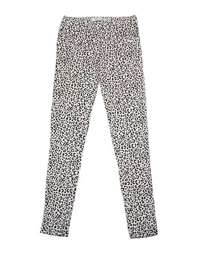Guess Leopard Knit Jeggings-ORANGE-8