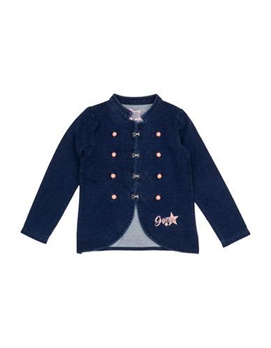Guess Denim Military Jacket-BLUE-6