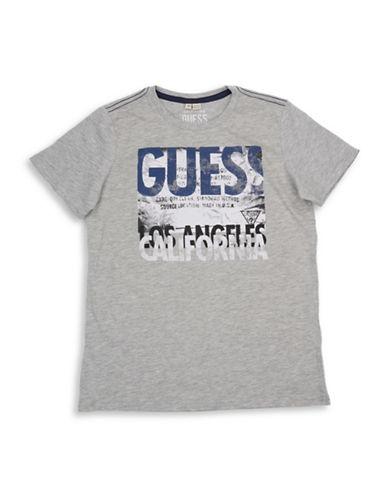 Guess Boys Logo Cotton Tee-GREY-14