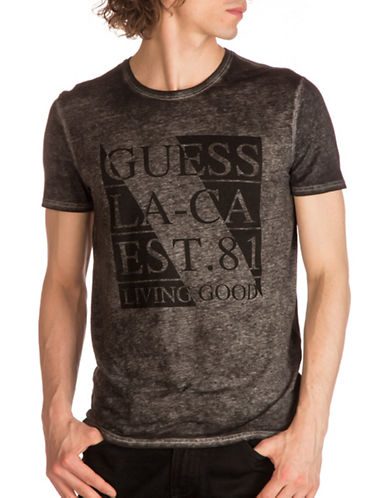 Guess Changing Graphic-Print T-Shirt-GREY-Small 89279347_GREY_Small