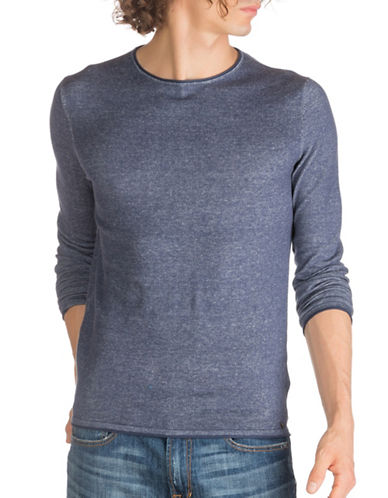 Guess Leo Cotton Sweater-BLUE-Medium