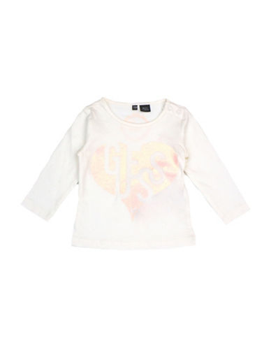 Guess Cotton Logo Tee-WHITE-6-9 Months