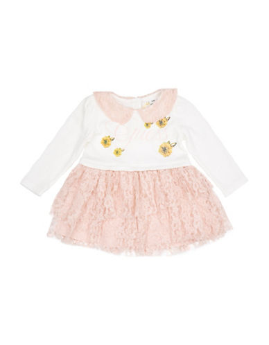 Guess Lace Dress-WHITE-6-9 Months