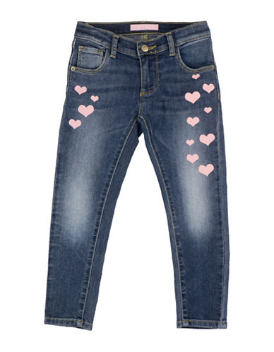 Guess Heart Printed Jeans-BLUE-4