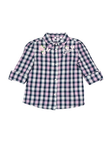 Guess Check Cotton Collared Shirt-CHECK-2T