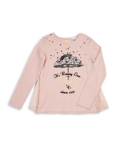 Guess Long Sleeve Graphic Tee-PEACH-3T