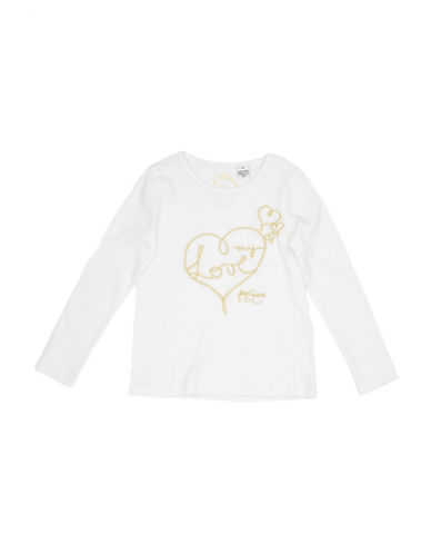 Guess Heart Graphic Shirt-WHITE-2T
