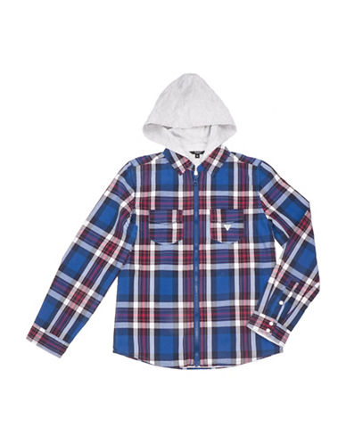 Guess Plaid Hooded Shirt-ASSORTED-14