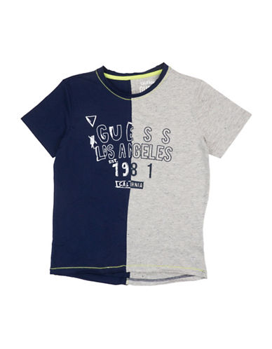 Guess Colourblock Cotton Tee-GREY-10