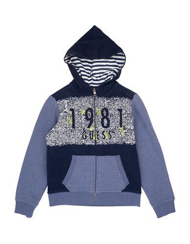 Guess Knit Fleece Hoodie-BLUE-8