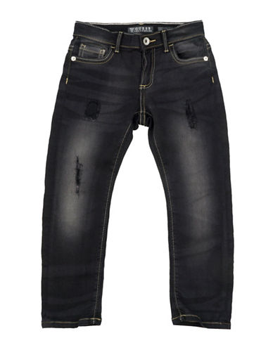 Guess Distressed Skinny Jeans-BLUE-2