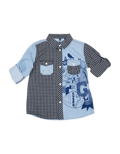 Guess Mixed Cotton Collared Shirt-ASSORTED-7