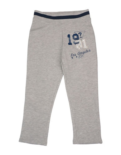 Guess Graphic Cotton Fleece Pants-GREY-3