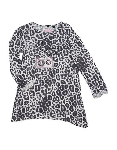 Guess Leopard Print Top-ORANGE-8