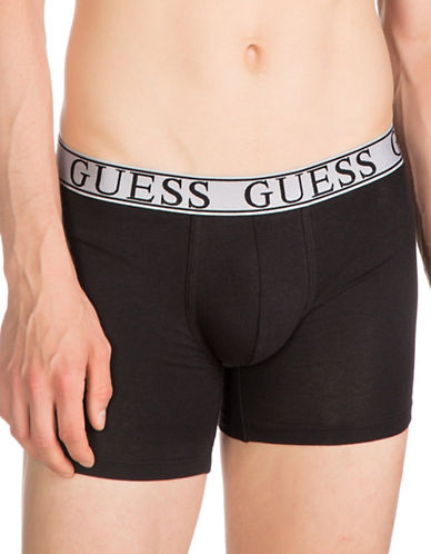 Guess Logo Stretch Boxer Brief-BLACK-X-Large