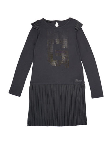 Guess Pleated Jersey Dress-GREY-8