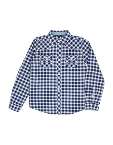 Guess Plaid Cotton Button-Down Shirt-ASSORTED-14