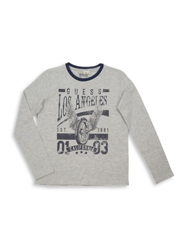 Guess Moto Graphic Long Sleeve Tee-GREY-8