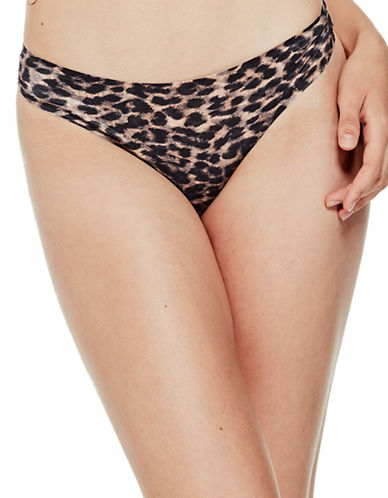 Guess Microfiber Thong-BROWN-Large