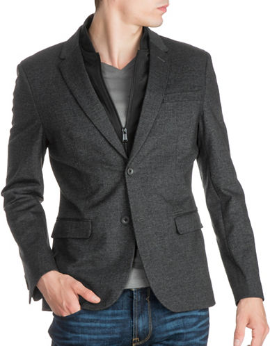 Guess Woven Sport Blazer-GREY-X-Large