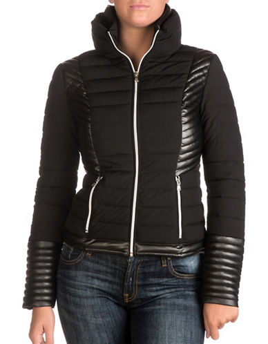 Guess Aurora Puffer Jacket-BLACK-Large 89537615_BLACK_Large