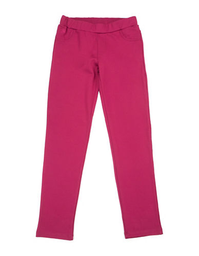 Guess Girls Elastic Waist Jeggings-PINK-10