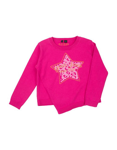 Guess Leopard Star Sweater-PINK-2T