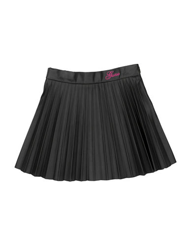 Guess Accordion Pleated Skirt-BLACK-2T
