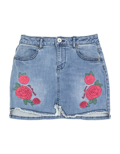 Guess Embroidered Skirt-BLUE-10
