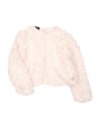 Guess Faux Fur Shrug-BEIGE-7