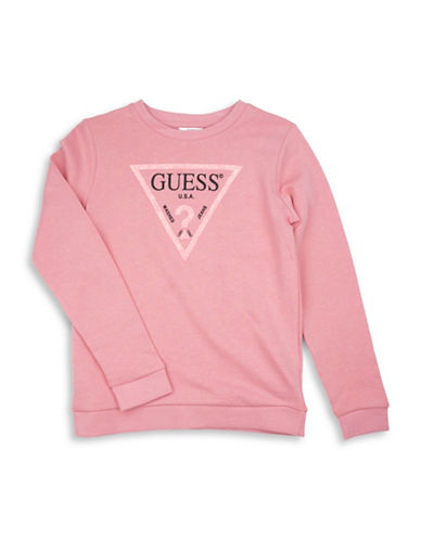 Guess Cotton Logo Sweatshirt-PINK-10