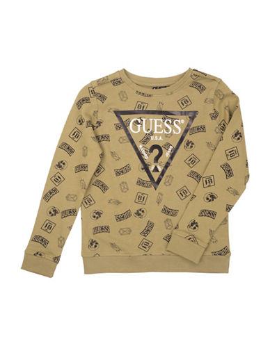 Guess Graphic Logo Cotton Sweatshirt-GREY-10
