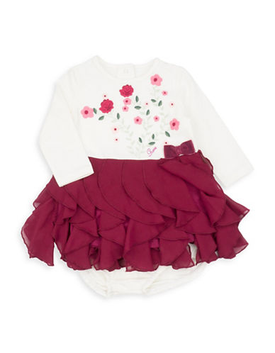 Guess Two-Piece Ruffle Dress and Bloomers Set-NATURAL-18 Months