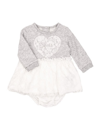 Guess Two Piece Knit Dress and Culottes Set-GREY-12 Months