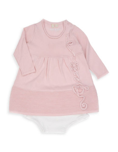 Guess Two-Piece Sweater Dress and Bloomers Set-PINK-18 Months