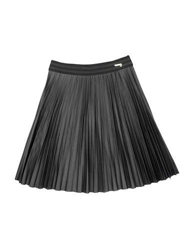 Guess Pleated Skirt-BLACK-8