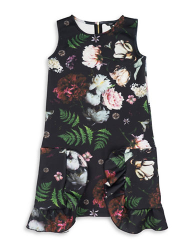 Guess Floral Shift Dress-BLACK-12