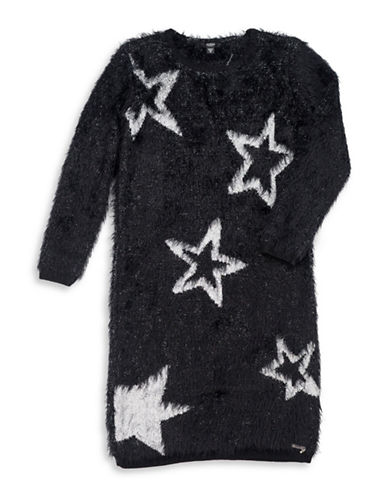 Guess Long Sleeve Sweater Dress-BLACK-7
