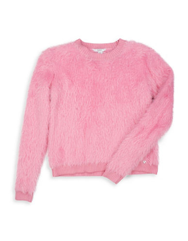 Guess Faux Fur Sweater-PINK-12