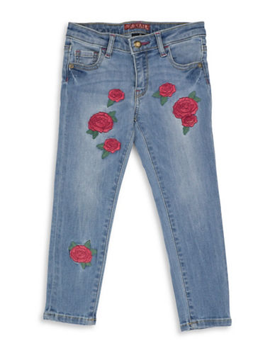 Guess Floral Skinny Jeans-BLUE-2T