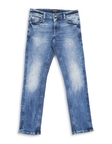 Guess Skinny Fit Stretch Skinny Jeans-BLUE-10