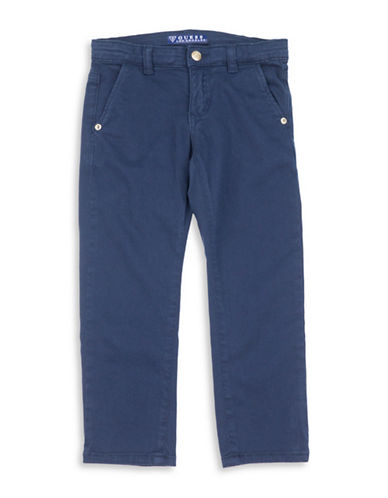 Guess Four-Pocket Chino Pants-BLUE-2