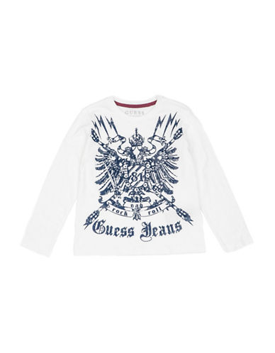 Guess Cotton Long-Sleeve T-Shirt-WHITE-2