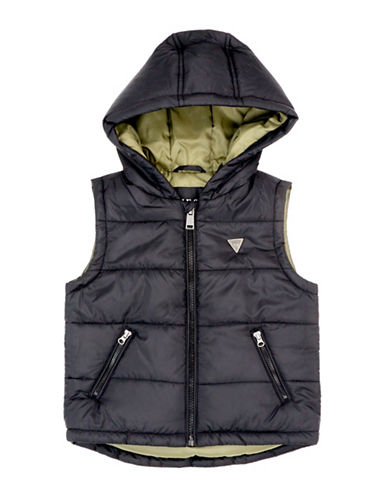 Guess Hooded Vest-BLACK-3