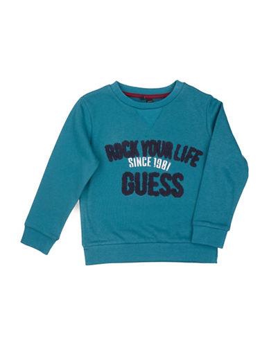 Guess Graphic Fleece Sweatshirt-GREEN-2