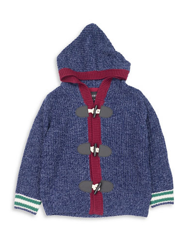 Guess Cable Over Hoodie Sweater-BLUE-7
