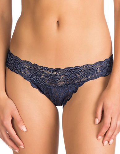 Guess Lace Brazilian Panty-NAVY-Large