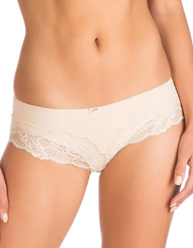 Guess Microfiber Lace Briefs-NUDE-Large