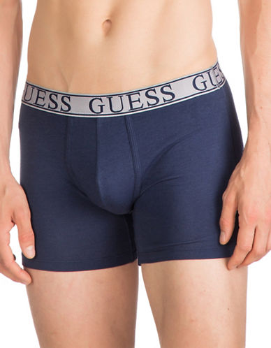 Guess Logo Stretch Boxer Brief-NAVY-Small