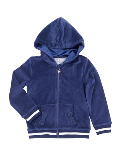 Guess Fleece Long-Sleeve Hoodie-BLUE-6X